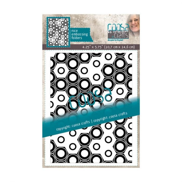 Coosa COOSA Crafts • Embossing sjabloon Mannen - Totally nuts
