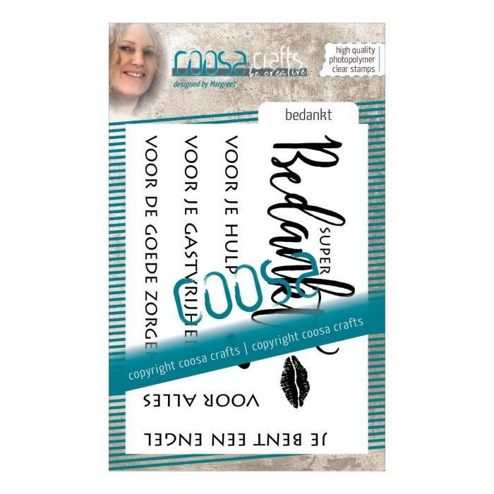 """Coosa COOSA Crafts • Clear stempel Nederlands #1 """"Bedankt"""""""