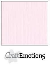 CraftEmotions papier a4 linnenkarton babyroze