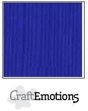 CraftEmotions papier a4 linnenkarton kobaltblauw