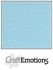 CraftEmotions papier a4 linnenkarton lichtblauw