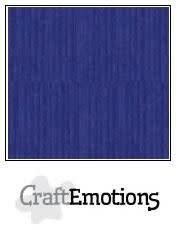 CraftEmotions papier a4 linnenkarton saffierblauw