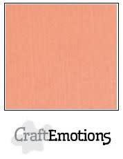 CraftEmotions papier a4 linnenkarton  zalm