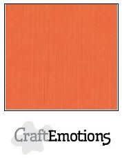 CraftEmotions papier a4 linnenkarton oranje