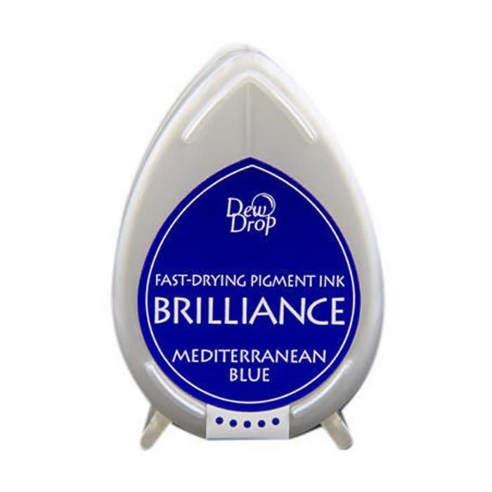 Brilliance Brilliance Dew Drop inktkussen Mediterrenian Blue