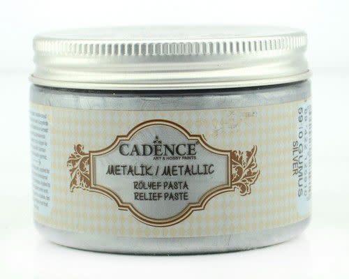 Cadence Cadence Metallic Relief Pasta Zilver