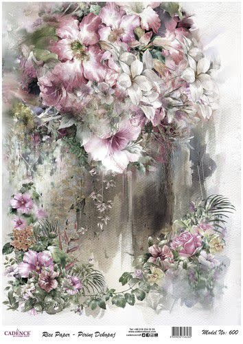 Cadence Cadence rijst papier bloemen roze