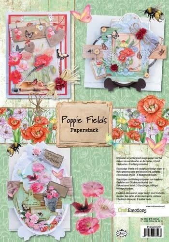 CraftEmotions CraftEmotions Paper stack Poppie fields 11 vel A4