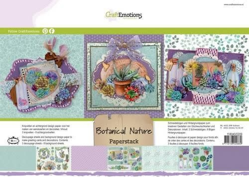 CraftEmotions CraftEmotions Paper stack Botanical Nature 11 vel A4