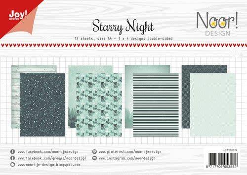 Joy!Crafts Joy! Crafts Papierset - Noor - Design Starry Night