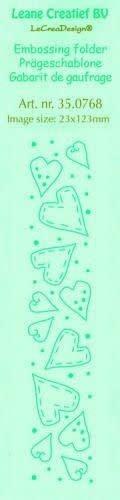 LeCrea LeCrea - Border embossing folder Hearts