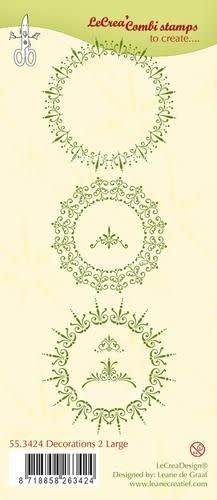 LeCrea LeCrea - Clear stamp Decorations 2 large