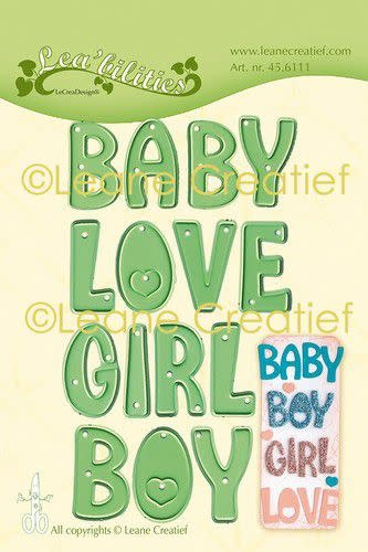 LeCrea LeCrea - Lea'bilitie Words Baby, Boy, Girl, Love snijmal
