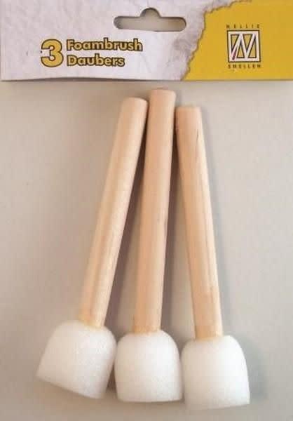 Nellie's choice Nellie's Choice  Dabber sponsstokjes 8cm - spons 2cm 3 ST