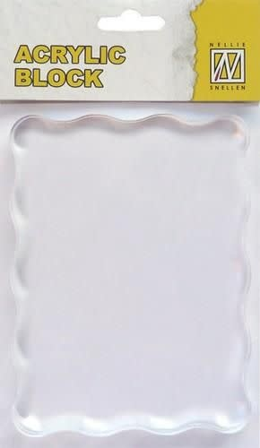 Nellie's choice Nellie's Choice acrylic stamping bloc 120x90x8mm