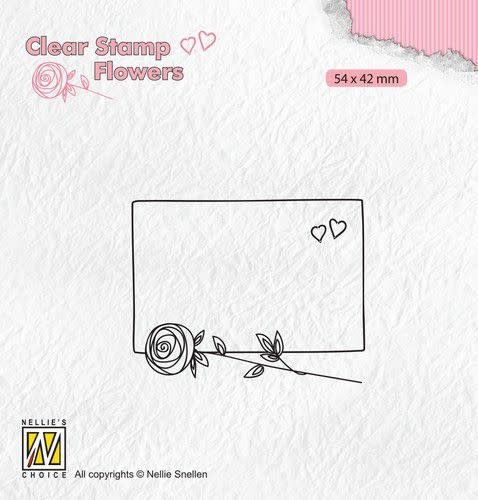 Nellie's choice Nellie's Choice Clear stamps Flowers frame met roos