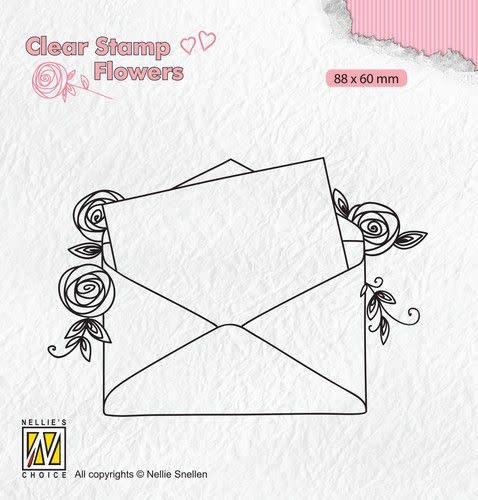 Nellie's choice Nellie's Choice Clear stamps Flowers Love letter