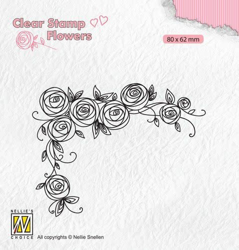 Nellie's choice Nellie's Choice Clear stamps Flowers Rozen hoek