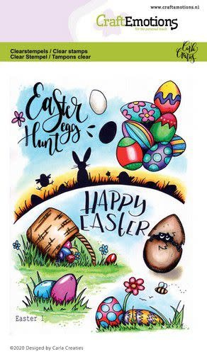 CraftEmotions CraftEmotions clearstamps A6 - Easter 1