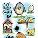 CraftEmotions CraftEmotions clearstamps A6 - Chicken 1