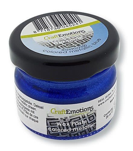 CraftEmotions CraftEmotions Wax Paste metallic colored - blauw