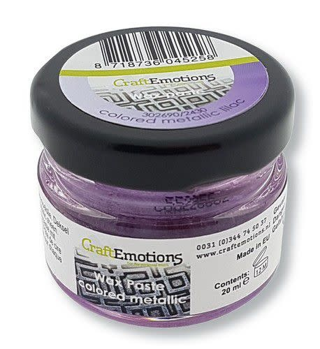 CraftEmotions CraftEmotions Wax Paste metallic colored - lila