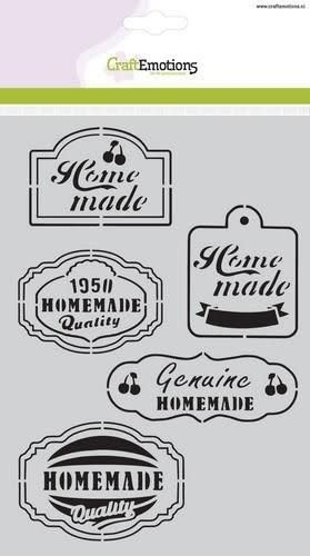 CraftEmotions CraftEmotions Mask stencil Fifties Kitchen labels A5