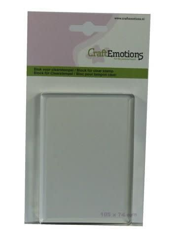 CraftEmotions CraftEmotions blok voor clearstempel 105x74mm - 8mm