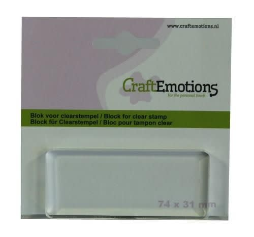 CraftEmotions CraftEmotions blok voor clearstempel 74x31mm - 8mm