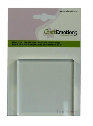 CraftEmotions CraftEmotions blok voor clearstempel 74x74mm - 8mm