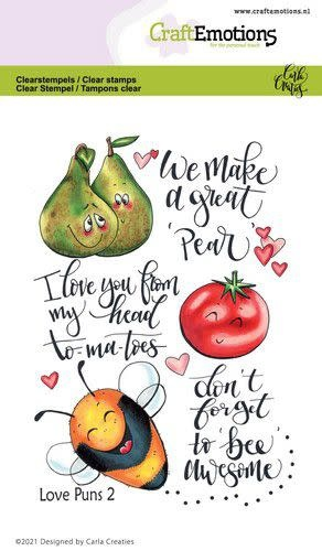 CraftEmotions CraftEmotions clearstamps A6 - Love Puns 2