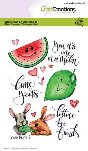 CraftEmotions CraftEmotions clearstamps A6 - Love Puns 3