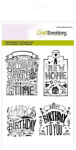 CraftEmotions CraftEmotions clearstamps A6 - new home handlettering (Eng)