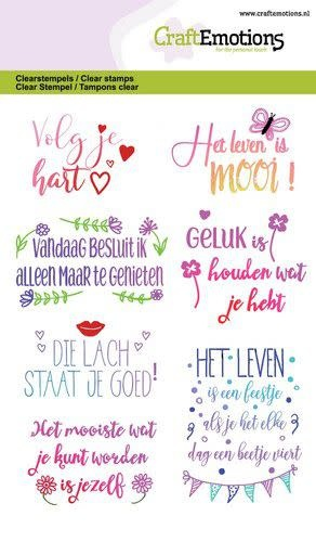 CraftEmotions CraftEmotions clearstamps A6 - Quotes - volg je hart, ... (NL)