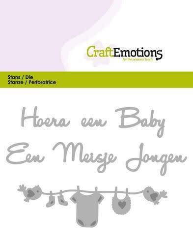 CraftEmotions CraftEmotions Die Tekst - Hoera een baby (NL)