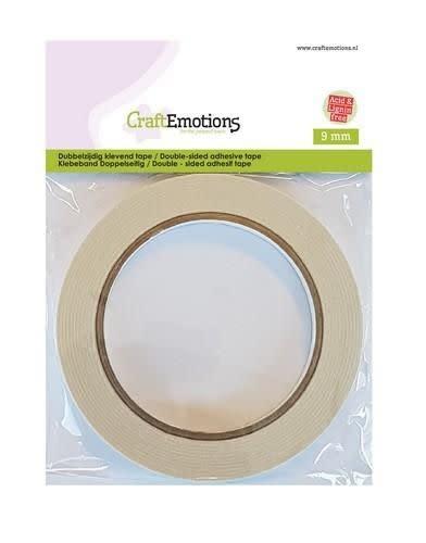 CraftEmotions CraftEmotions Dubbelzijdig klevend tape 9 mm 20 MT 1 RL