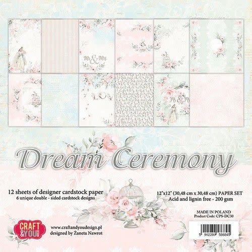 """Craft&You Craft&You Dream Ceremony BIG Paper Set 12x12"""" 12 vel"""