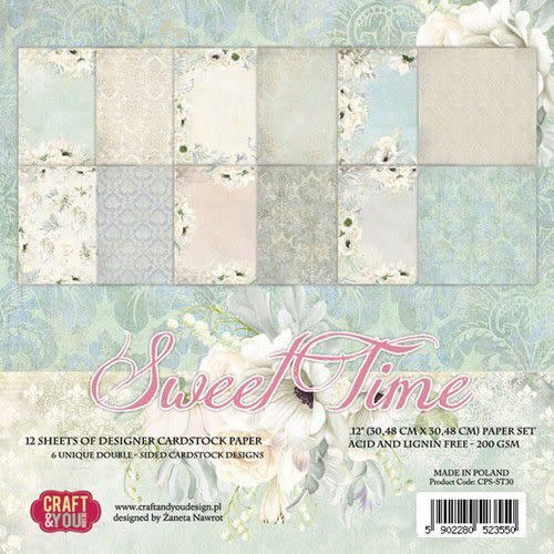 "Craft&You Craft&You Sweet Time BIG Paper Set 12x12"" 12 vel"
