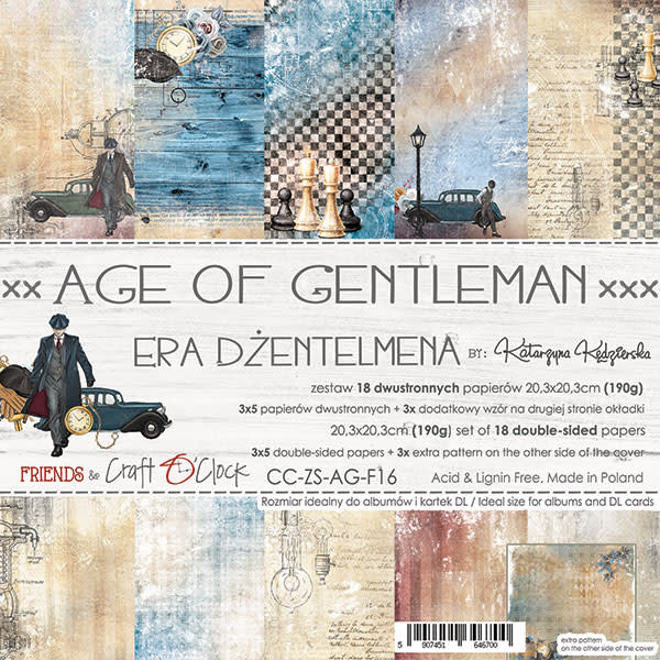 craftoclock Age of a gentleman 20.3x20.3