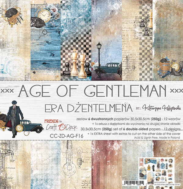craftoclock Age of a gentleman 30.5x30.5
