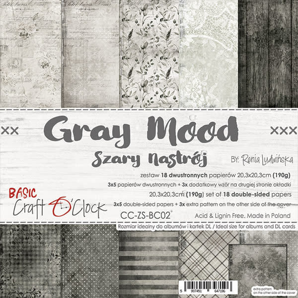 craftoclock Grey mood 20.3X20.3