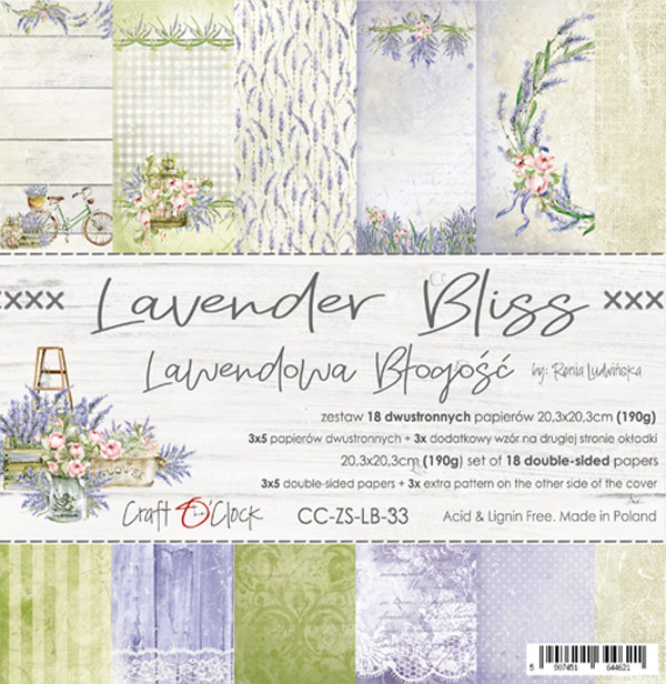 craftoclock Lavender bliss 20.3x20.3 paperpad