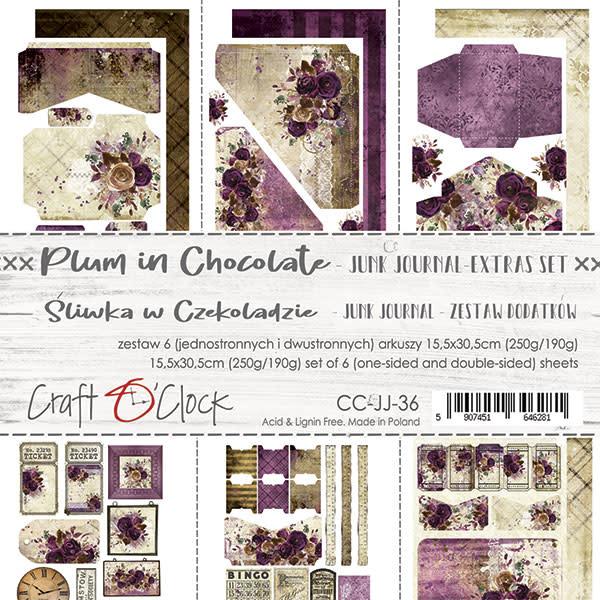craftoclock Plum in chocolate junk journal
