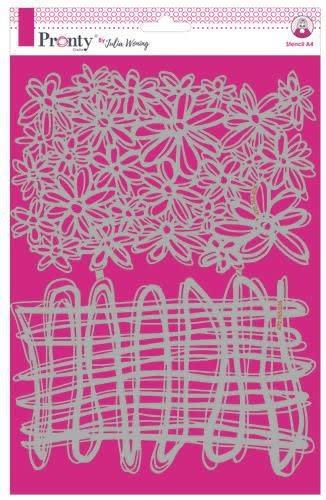Pronty Pronty Stencil String & Daisies