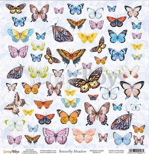 ScrapBoys ScrapBoys Butterfly Meadow paper cut out elements DZ