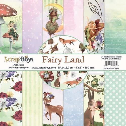 ScrapBoys ScrapBoys Fairy Land paperpad 24 vl+cut out elements-DZ