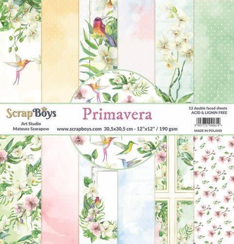 ScrapBoys ScrapBoys Primavera paperset 12 vl+cut out elements-DZ
