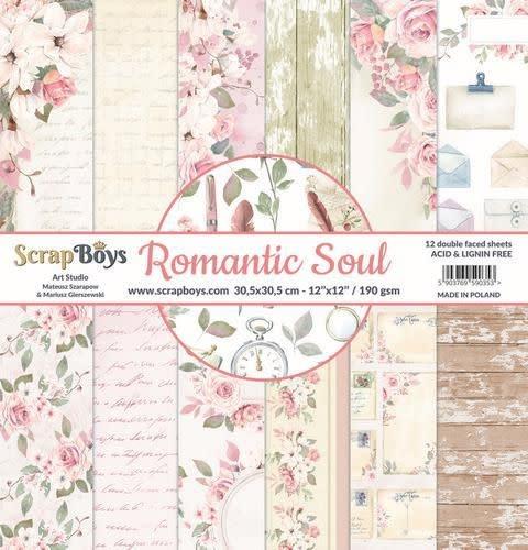 ScrapBoys ScrapBoys Romantic Soul paperset 12 vl+cut out elements-DZ