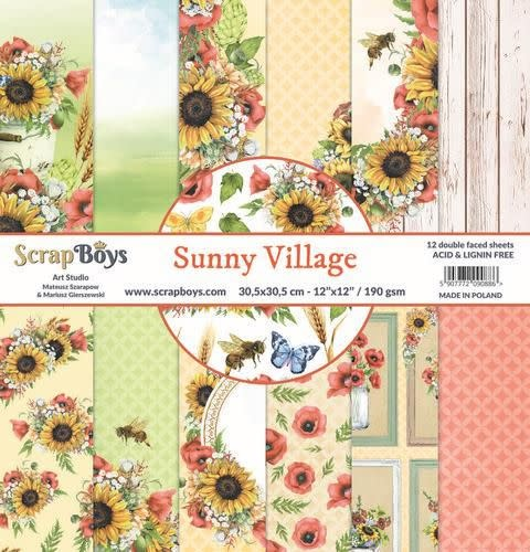 ScrapBoys ScrapBoys Sunny Village paperset 12 vl+cut out elements-DZ