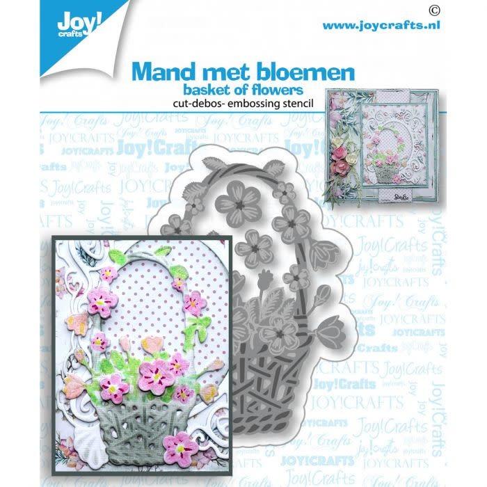 Joy!Crafts Joy!Crafts • Snij- embos- debosstencil Mand met bloemen